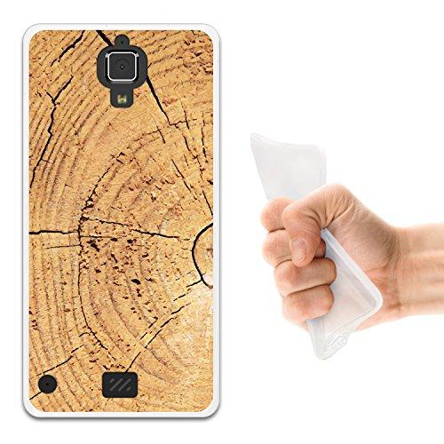 WoowCase Hisense C20 King Kong II 4G Hülle, Handyhülle Silikon für [ Hisense C20 King Kong II 4G ] Hölzerne Struktur 2 Handytasche Handy Cover Case Schutzhülle Flexible TPU - Transparent