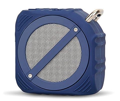 Haut-parleurs Bluetooth sans fil étanche, Ailina S8 Bluetooth 4.0 extérieur Haut-parleur de douche portable avec basses améliorées et micro intégré (IP65 étanche, résistant à la poussière, résistant aux chocs, 12H de lecture)