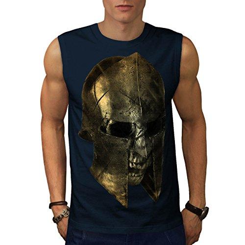 Schädel Sparta Krieger Schlacht 300 Herren XXL Ärmellos T-shirt | Wellcoda (Krieger-schädel-t-shirt)