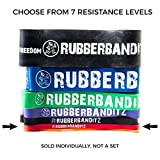 """Rubberbanditz Physical Therapy Band. #2 Medium/Red 20-35 lb (9-16 kg). - 41"""" Continuous Loop 100% Premium Multi-Layered Latex Exersize Resistance Assistance Band For Stabilization Stretching Toning Rehab/Recovery Prehab Mobility"""