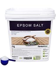 NortemBio Sel d'Epsom 6 Kg; 2x6 Kg, Source concentrée de Magnésium, Sel 100% Naturel. Bain et Soins Personnels.