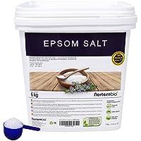 NortemBio Sal de Epsom 6 Kg, Fuente concentrada de Magnesio, Sales 100% Naturales. Baño y Cuidado Personal.