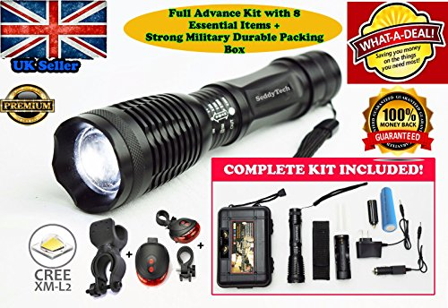 SeddyTech tactical flashlight Kit.Super Bright