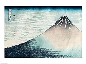 Katsushika Hokusai - Le Mont Fuji par temps clair Impression d'art Print (60,96 x 45,72 cm)