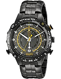 Timex Intelligent Quartz Men's Watch with Grey Dial Analogue Display and Grey Stainless Steel Bracelet T2P139AU