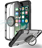 iPhone 7 Hülle mit Griff Ring Halter, ProCase Multifunktions-Abdeckung mit drehbarem Ring Halter Ständer für magnetischen Auto Mount Halter, Kickstand Case für Apple iPhone 7 4,7 Zoll 2016 -Schwarz