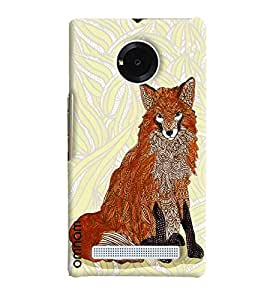 Omnam Wolf Made Of Art Printed Designer Back Cover Case For Micromax Yunique
