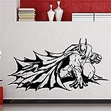 Autocollant mural Ysisa Batman DIY Papier peint Batman Super-héros Dark Knight Comics Cartoons Décoration Maison Imperméable Amovible 40.9 x 23.4 inches