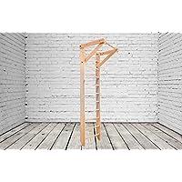 Сonstrucción robusta! Barras de pared de madera para interiores SP-01-220 Wooden Escalera sueca