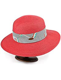 Amazon.it  cappello tesa larga donna - Rosso   Cappelli e cappellini ... 911020d10e68