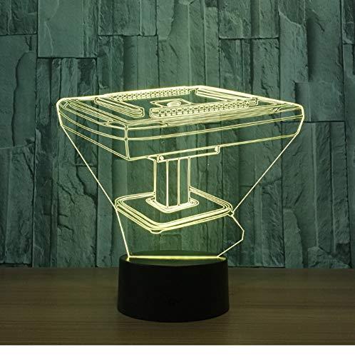 Nachtlicht Für Kinder 3D Illusion Nachtlicht, Touch Button Tisch Schreibtischlampe Mit 7 Farben Licht Für Weihnachten Halloween Geburtstagsgeschenk (Mahjong Desk)