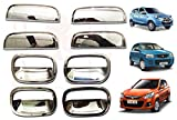 #7: RedClub Galio/ Prius Handle/ Catch Covers Finger Guards Combo for Alto Old Model/ Alto K10/ Alto 800 (Chrome) [Made in India] with Complementary 01 Pair of RedClub Blind Spot Mirrors + RedClub Pen Free