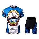 Thriller Rider Sports® Herren Mountain Bike Club Sport & Freizeit MTB Fahrradbekleidung Radtrikot und Kurze Hose Anzüge 5X-Large