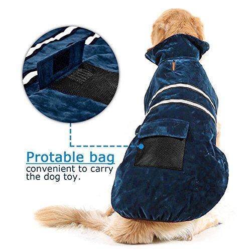 Poppypet Hundemantel, Winterjacke Hundebekleidung Herbst Weste Hundejacke Wintermantel Der modische Mantel ist perfekt fuer kalte Winter (Achten Sie bitte auf die Groesse) Blau L - 2
