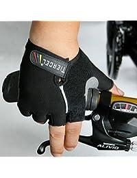 Bazaar Vélo moitié doigts gants noirs VTT gants de vélo