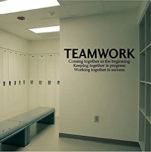 Autocollant mural citation d finition teamwork pour for Autocollant definition