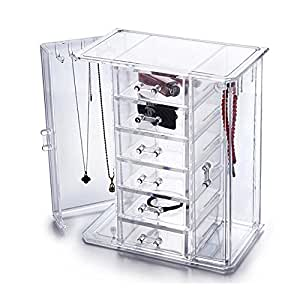hqdeal rangement maquillage acrylique vernis pr sentoir porte bijoux cosm tiques organisateur de. Black Bedroom Furniture Sets. Home Design Ideas