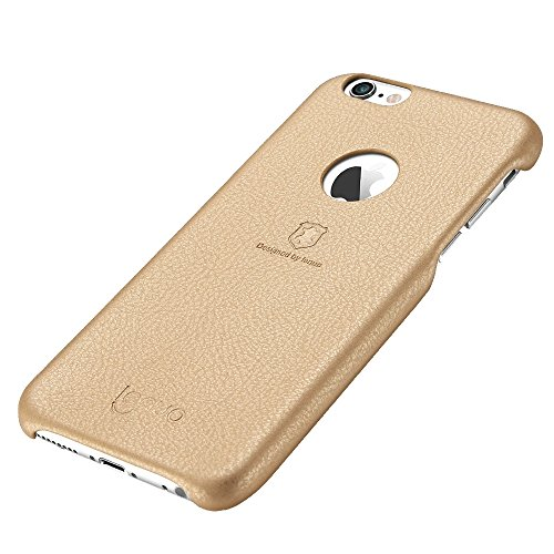 Wkae Lenuo Litchi Texture PU + PC Paste Skin Schutzhülle für iPhone 6s Plus ( Color : Rose gold ) Gold