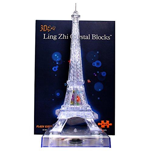 StillCool Puzzle 3D en cristal, Musical Avec Belle Lumière (Tour Eiffel)
