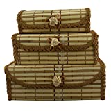 TRINITY Bamboo Set of 3pcs Jewellery Box...