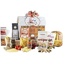 Cesta Navideña Gourmet - Cesta de Regalo con Panettone Italianos, Chocolate y Productos típicos de Navidad - Casa dei Sapori