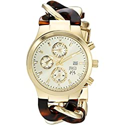 Jivago Women's JV1231 Analog Display Swiss Quartz Two Tone Watch