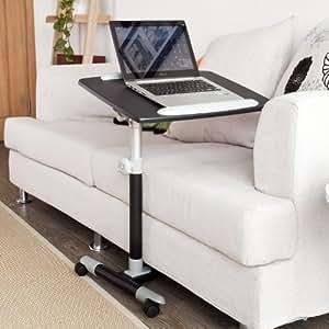 sobuy fbt07n2 table de lit pour ordinateur portable avec plateau inclinable hauteur r glable. Black Bedroom Furniture Sets. Home Design Ideas