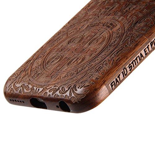 Custodia per iphone 6/6S, iphone 6 4.7 Pollici Cover rigida in legno, Ukayfe Impressionante texture di superficie design realizzata a mano legno / Palissandro / legno di rosa naturale di bambù Back Ca tempi antichi