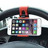ZA eShop Universal Car Steering Wheel Mobile Phone Mount Socket Holder For Apple Samsung