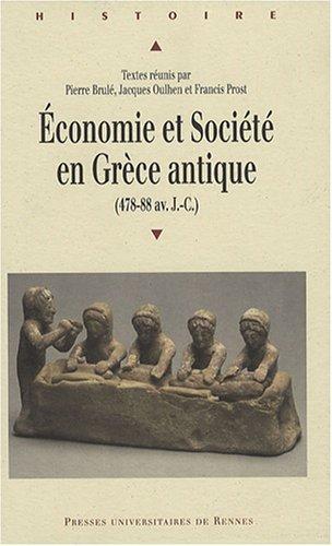 Economie et Socit en Grce antique (478-88 av. J-C)