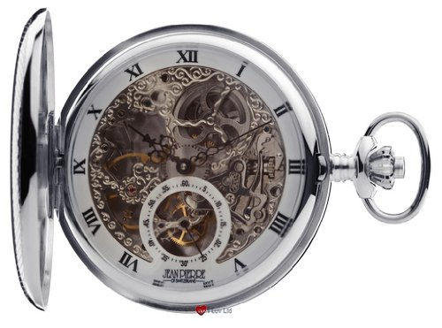 Sterling Silber Skeleton Taschen-Watch Full Hunter 17 Jeweled mechanische Bewegung