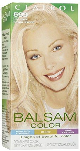 Clairol Coloration capillaire permanente en crème liquide Balsam Color - Couleur 599 - Blond naturel ultra clair