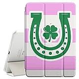 FJCases Streifenmuster Hufeisen Irisches Kleeblatt Glück (Hellrosa) Smart Cover Tablet-Schutzhülle Hülle Tasche + Auto aufwachen / Schlaf Funktion für Apple iPad Mini 4
