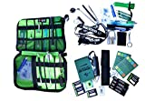 64 Teile Geocaching Anfänger Starter Set - Rießig Rundum Sorglos Paket UV Lampe, Uv Stift, Teleskop spiegel und Magnet Travelbug Lockpicking Set usw
