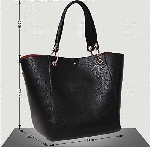 X&L Damen Handtasche aus Leder Mode Casual Schulter brown -