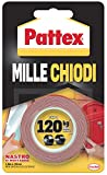 Pattex 1415580 Millechiodi Tape Ruban adhésif double face 19 mm x 1,5 m