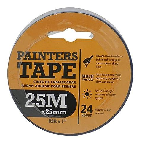 Premium 25mm x 25metre Bleu Peintres Masing ruban Peinture lignes nettes les murs.