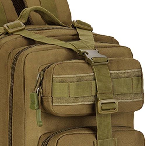Gazechimp 30L Molle Rucksack Taktischer Erwachsene Rucksack Unisex Schulrucksack Outdoor Reiserucksack Laptop Rucksack Braun