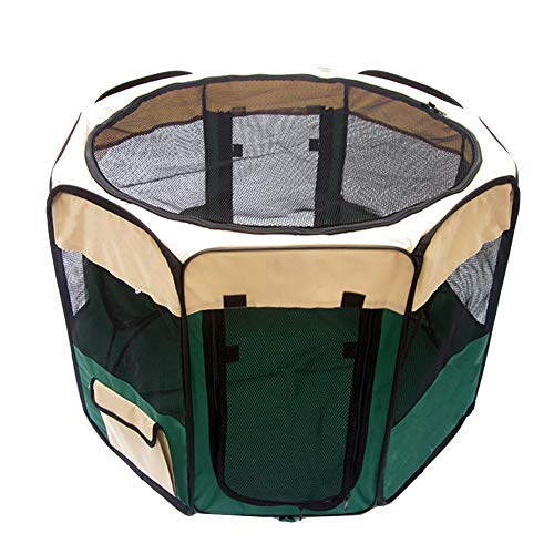 Hundelaufställe Haustier-Zaun-Außenzelt-Haustier-Katzen-Lieferungs-Raum, faltender Haustier-Versorgungsmaterial-Yard-Zwinger für kleine Haustiere - grüne Farbe (größe : 61×76×150cm)