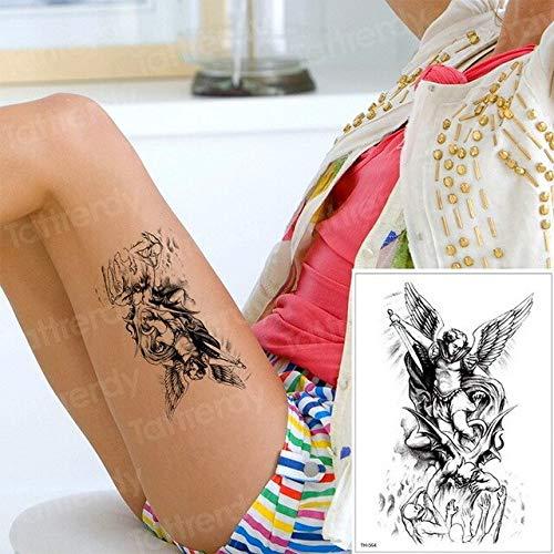 HXMAN 3pcs Temporäre Tattoos Engel Besiegt Den Teufel Töten Designs Armband Tattoos Frauen Mens Fake Tattoo Wasser Farbe Tatoo Arm Körper TH564 - Engel Tattoos Frauen