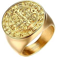 6cbc1668dcb BOBIJOO Jewelry - Anillo Anillo Anillo de Hombre de la Medalla de la Cruz  de la