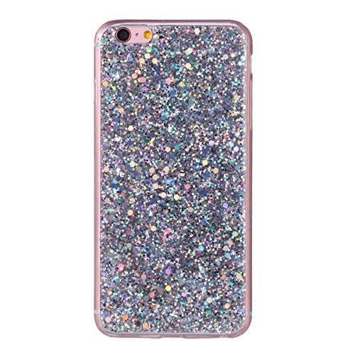 """MOONCASE iPhone 6 Plus/iPhone 6s Plus Coque, Bling Glitter Doux TPU Étuis Case Ultra Slim Étanche aux Chocs Housse de Protection pour iPhone 6 Plus/iPhone 6s Plus 5.5"""" Red Argent"""
