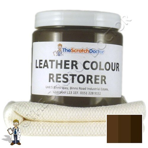 The Scratch Doctor 250ml Leather Colour Restorer for Leather Sofas, Chairs, etc. (Dark Brown)