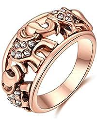 SailvanIn Women Rings Wedding Rings Cute Elephant Rings Women Jewelry Engagement Ring