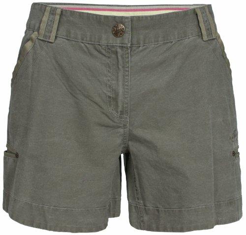 Trespass Shorts aus Baumwolle Ripstop für Damen June L  - dunkles kaki (Ripstop-shorts Damen)