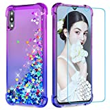 LeYi Galaxy A10 Case with Screen Protector, Girl 3D Glitter
