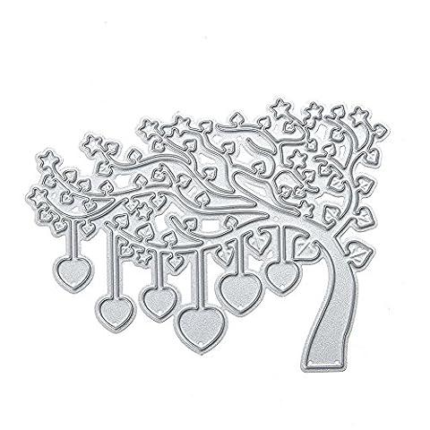 Dies Scrapbooking Découpe Pochoir Stencil Album l'arbre Donner Matrices de découpage DIY métal de Photo Embossing Cards Décoration Artisanale