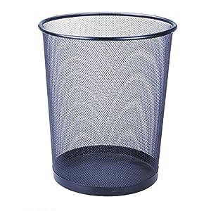 Idena 10045 – Papierkorb groß, Metall, Circa 19.4 L, schwarz