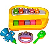 Wish Key Xylophone Vocal game with Rattle/Stick and Trumpet Boy & Girl Toys Khilona For Baby Kids