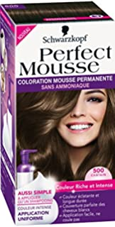 schwarzkopf perfect mousse coloration permanente chtain 500 - Mousse Colorante Schwarzkopf
